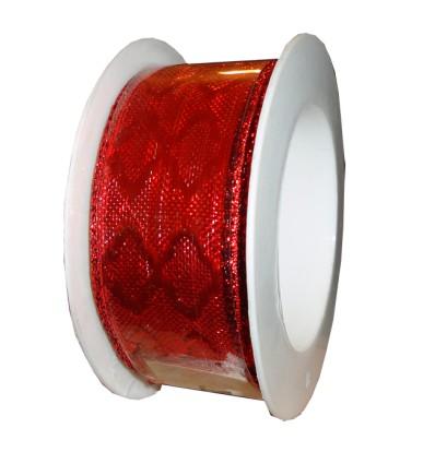 Lazo decorativo Rojo con rombos