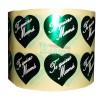 """Etiquetas para regalos """"Te Quiero Mamá"""" Corazón verde"""