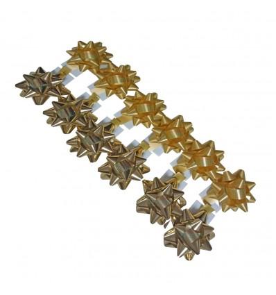Bolsa de 12 moños medianas oro