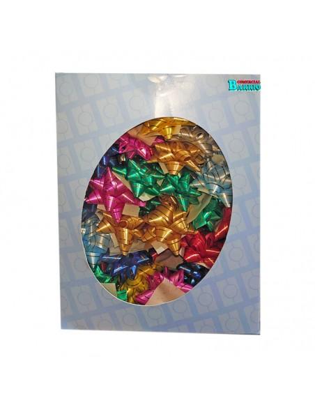 caja de 100 estrellas adhesivas rayadas