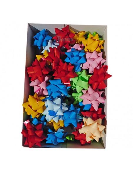 Caja de 70 uds de lazos adhesivos de colores surtidos