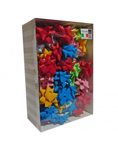 Caja de 70 moñas de 19 mm. colores pastel