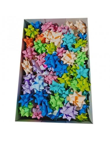 100 lazos adhesivos de 15 mm colores mate