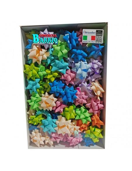 Caja de 100 lazos adhesivos de 15 mm colores mate