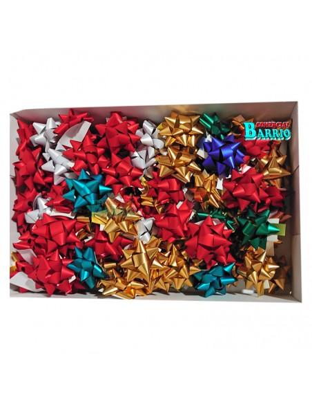 Caja de estrellas adhesivas para regalos