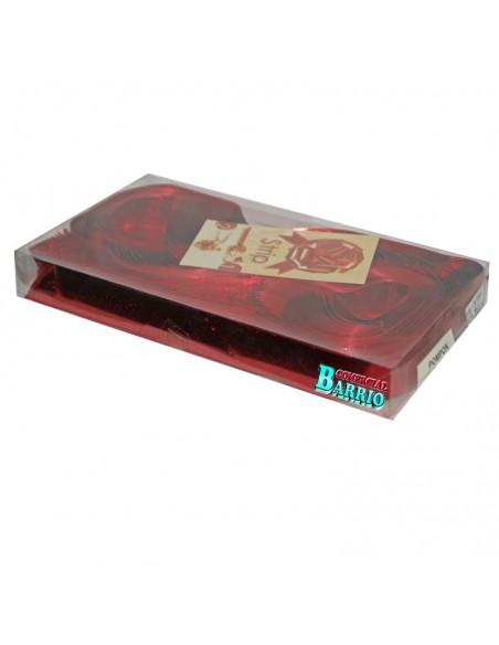 caja de 30 Lazos automaticos para regalos de 31mm de ancho color rojo brillo