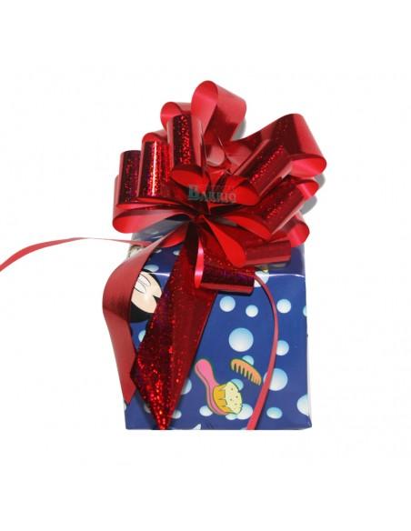 Lazo automatico para regalos de 31mm de ancho color rojo brillo