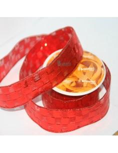 Lazo Decorativo Rojo con cuadrados