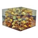Caja 12 moños medianas  oro