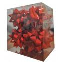 Caja 12 moños medianas  rojo