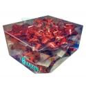 Caja 12 moños medianos rojo