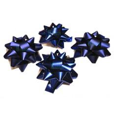 Caja 12 moños medianas  azul