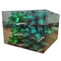 Caja 12 moños medianas  verdes