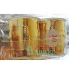 Bolsa cinta decorativa 2 rollos oro brillo