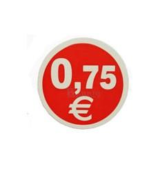 Etiquetas para precios 0,75€