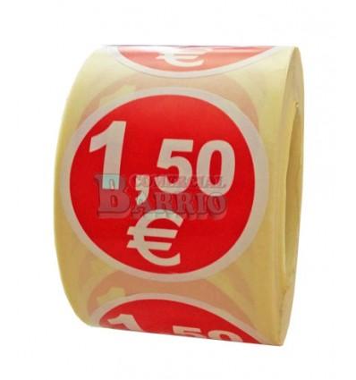 """3 Rollos de 500 Etiquetas Adhesivas /""""20 €/"""" de 35 mm de diámetro Alta Calidad"""