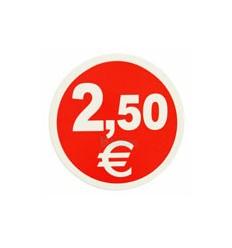 Etiquetas para precios 2,5€