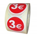 Etiquetas para precios 3€