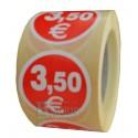 Etiquetas para precios 3.5€