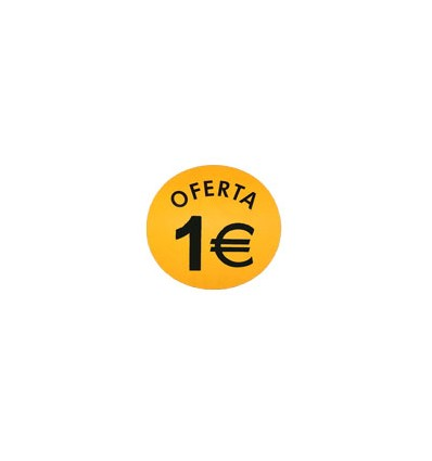 "Etiquetas para precios ""Oferta 1€"""