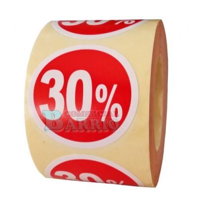 Etiquetas para precios 30%