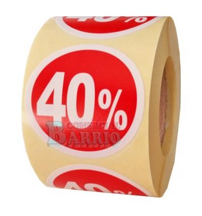 Etiquetas para precios 40%