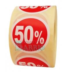 Etiquetas para precios 50%