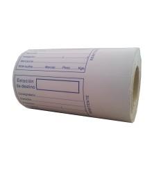 "Etiquetas adhesivas para envios "" Estación de destino"""