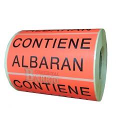 """Etiquetas para envio """"Contiene Albarán"""""""
