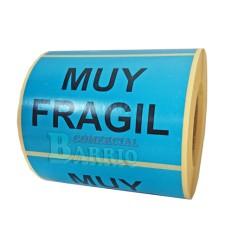 Etiquetas Muy Fragil Azul