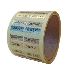 "Etiquetas para joyería  ""Oro 9 kilates"""