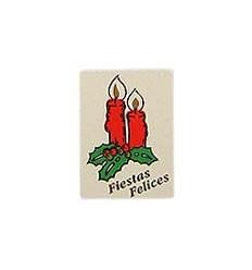 """Etiquetas para regalos de navidad """"Fiestas Felices"""" 2 Velas"""