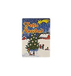 """Etiquetas para regalos de Navidad """"Feliz Navidad"""" Paisaje"""