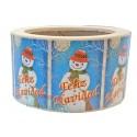 """Etiquetas Navidad """"Feliz Navidad"""" Muñeco nieve"""