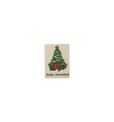"""Etiquetas Navidad """"Feliz Navidad"""" Árbol"""