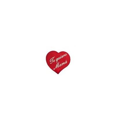"""Etiquetas para regalos  """"Te quiero Mama"""" Corazón Rojo"""