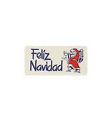 """Etiquetas navidad """"Feliz Navidad"""" Papá Noel azul"""