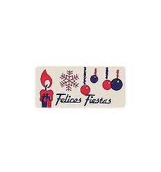 """Etiquetas navidad """"Felices Fiestas"""" Vela y Bola"""