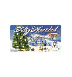 """Etiquetas Navidad """"Feliz Navidad"""" Pista nevada"""