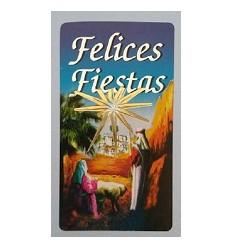 """Etiquetas Navidad """"Felices Fiestas"""" Portal"""