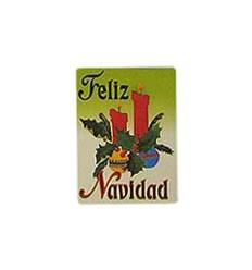"""Etiquetas Navidad """"Feliz Navidad"""" centro de  Dos Velas dibujadas"""