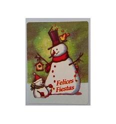 """Etiquetas Navidad """"Felices Fiestas"""" munecos de nieve"""