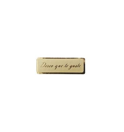 Etiquetas para regalos Deseo que te guste estampado oro