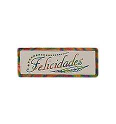 "Etiquetas para regalos ""Felicidades"" Espiga iris"
