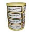"""Etiquetas para regalos """"Espero que te guste"""" Lisa en oro"""