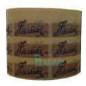 """Etiquetas para regalos """"Felicidades""""  kraft azul"""