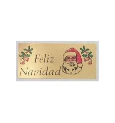 """Etiquetas Navidad """"Feliz Navidad"""" cara papá Noel"""