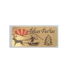 """Etiquetas Navidad """"Felices Fiestas"""" trineo"""