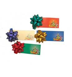Tarjeta regalo con moño colores surtidos