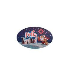 Etiquetas Adhesivas Feliz Navidad Papa Noel